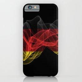 Germany Smoke Flag on Black Background, Germany flag iPhone Case