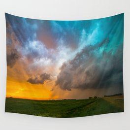 Glorious - Stormy Sky and Kansas Sunset Wall Tapestry