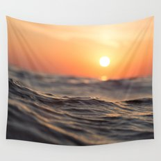 Sunset Wave Wall Tapestry