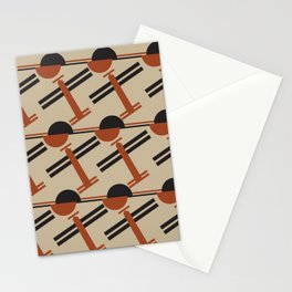 soviet pattern - constructivism Stationery Cards