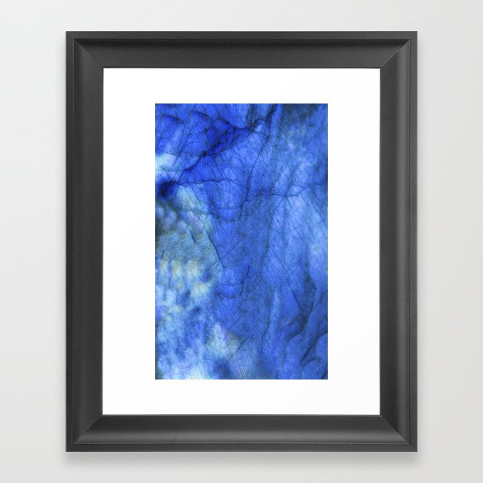 Labradorite Flash Framed Art Print