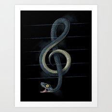 Snake Note Art Print
