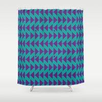 arrow Shower Curtains featuring Arrow by C Designz