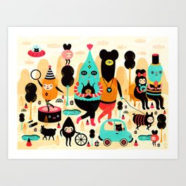 Sunday! Art Print