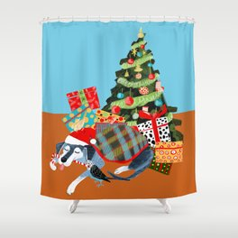 Time to Share Shower Curtain