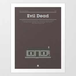 Horror Film Houses 03 Art Print
