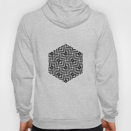 Black And White Op-Art Triangle Pattern Hoody