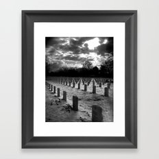 The Graveyard at Dusk Framed Art Print