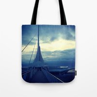 milwaukee Tote Bags featuring Milwaukee Morning by Laughable Life