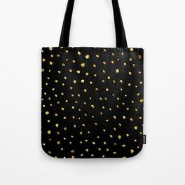 Brushed Gold Dots Tote Bag