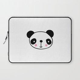 Cute panda head in black and white Laptop Sleeve
