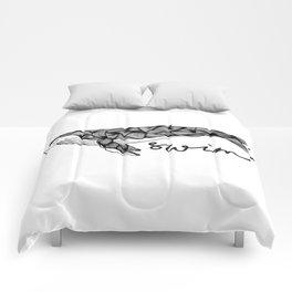 Humpback whale | Swim swim swim Comforters