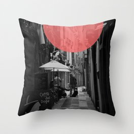 Venice Caffe del doge Throw Pillow