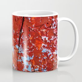 Red Maple Leaves Coffee Mug