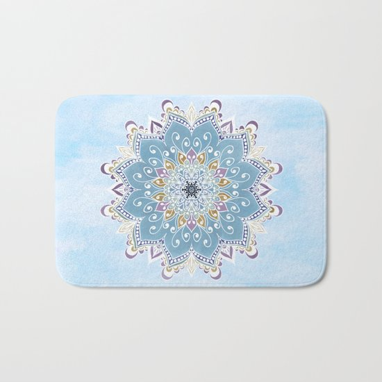 MAGIC FLOWER MANDALA Bath Mat