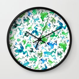 Tree Frogs Wall Clock