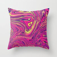 psychedelic Throw Pillows featuring Psychedelic by Idle Amusement