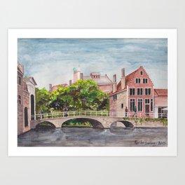 Bruges Bridge Art Print