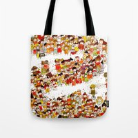 bees Tote Bags featuring Bees by Rafaela Rodrigues