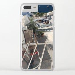 Santorini Balcony Clear iPhone Case