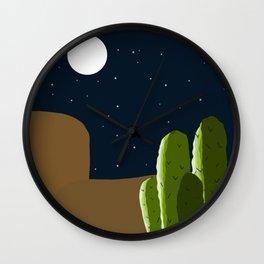 Desert and Moon Wall Clock
