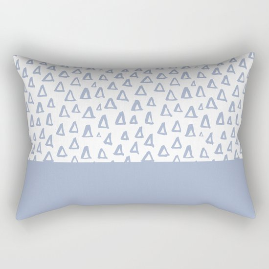 Triangles Light Blue Rectangular Pillow