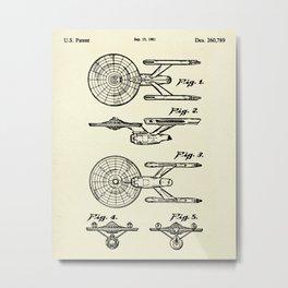 Starship Enterprise Startrek -1981 Metal Print