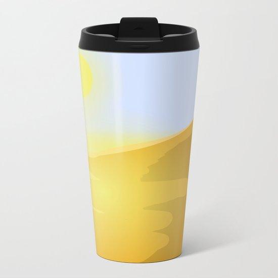 Sand and heat Metal Travel Mug