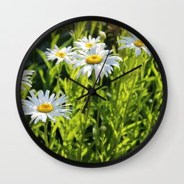 Sunny Face Daisies Wall Clock