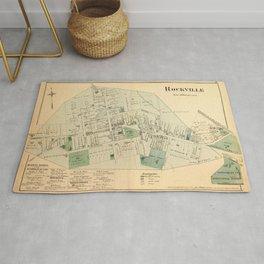 Vintage Map of Rockville MD (1878) Rug