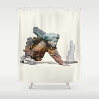 jay fleck Shower Curtains featuring Jay Adams by Ricca Design Co.
