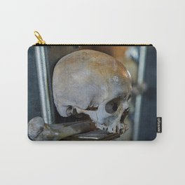 Sedlec Ossuary Skulls Photo Art Print, Bone Church Carry-All Pouch