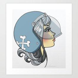 Moto Girl Art Print