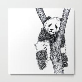PANDA THE TREE HUGGER Metal Print