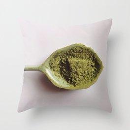 Green Tea Matcha Love  Throw Pillow