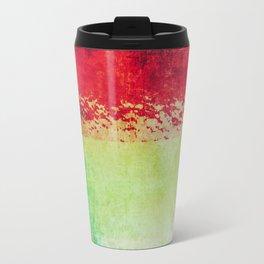 Modern Texture Red Abstract Travel Mug