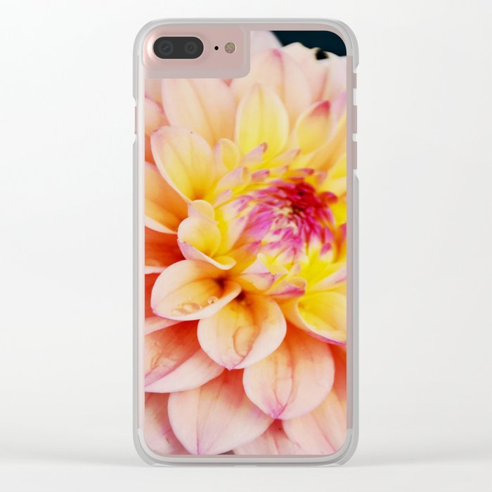 Light Pink Dahlia #2 Clear iPhone Case
