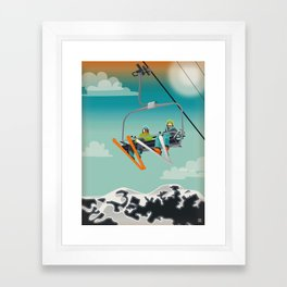 Ski Lift Framed Art Print