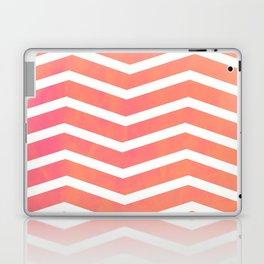Patterned Chevron (Neon Peach) Laptop & iPad Skin