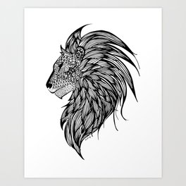 Lion Illustration Art Print