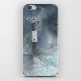 Night Storm at Tybee Lighthouse iPhone Skin