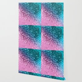 Tropical Beach Lady Glitter #8 #shiny #decor #art #society6 Wallpaper