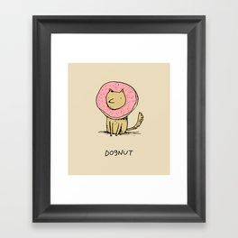 Dognut Framed Art Print