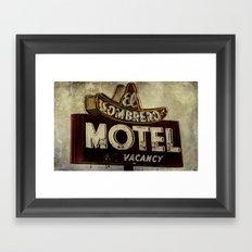 Vintage El Sombrero Motel Sign Framed Art Print