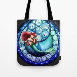 Ariel Stain Glass Tote Bag