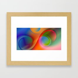 a towel full of colors Framed Art Print