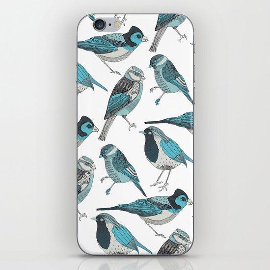 pale green birds iPhone & iPod Skin
