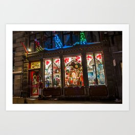 Noel Christmas store - Montreal's Old Port Art Print