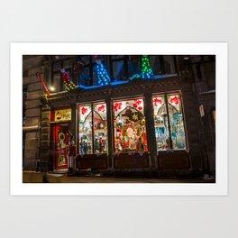 Noel Christmas store - Montreal's Old Port Art Print