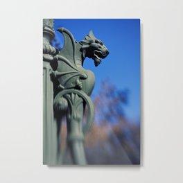 A Dragon Lamp Post. Metal Print